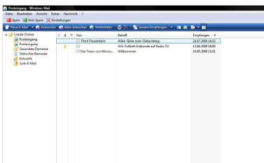 Emails abrufen und lesen in Windows Mail